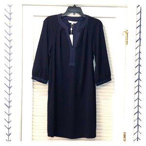 Navy Trina Turk dress.